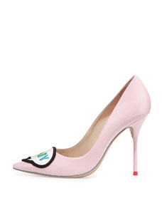 Sophia Webster Boss Lady Patent Leather Pump, Baby Pink