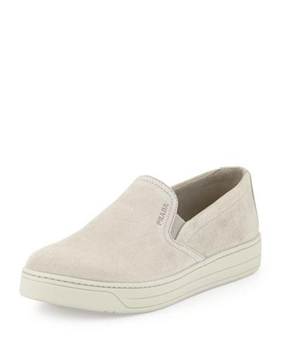 Suede Slip-On Sneaker, Cloud  (Nube)