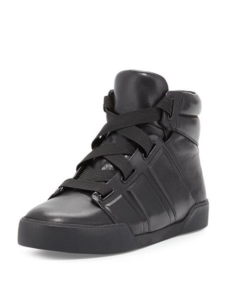 3.1 Phillip Lim Morgan High-Top Sneaker, Black