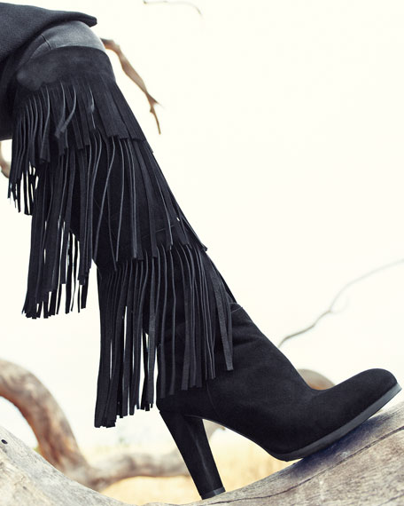 Fringie Fringe Suede Tall Boot