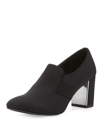 Clem Crepe Shoe-Bootie, Black