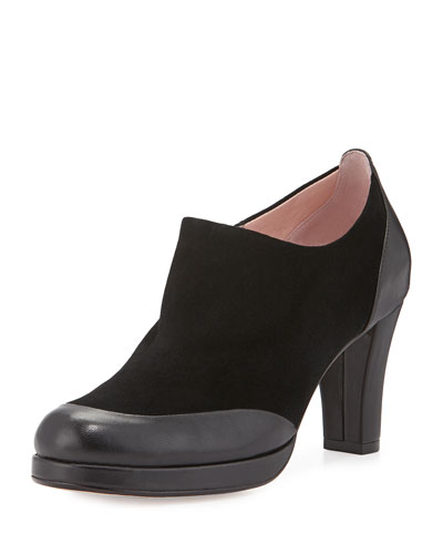 Taryn Rose Tywin Suede Ankle Boot, Black