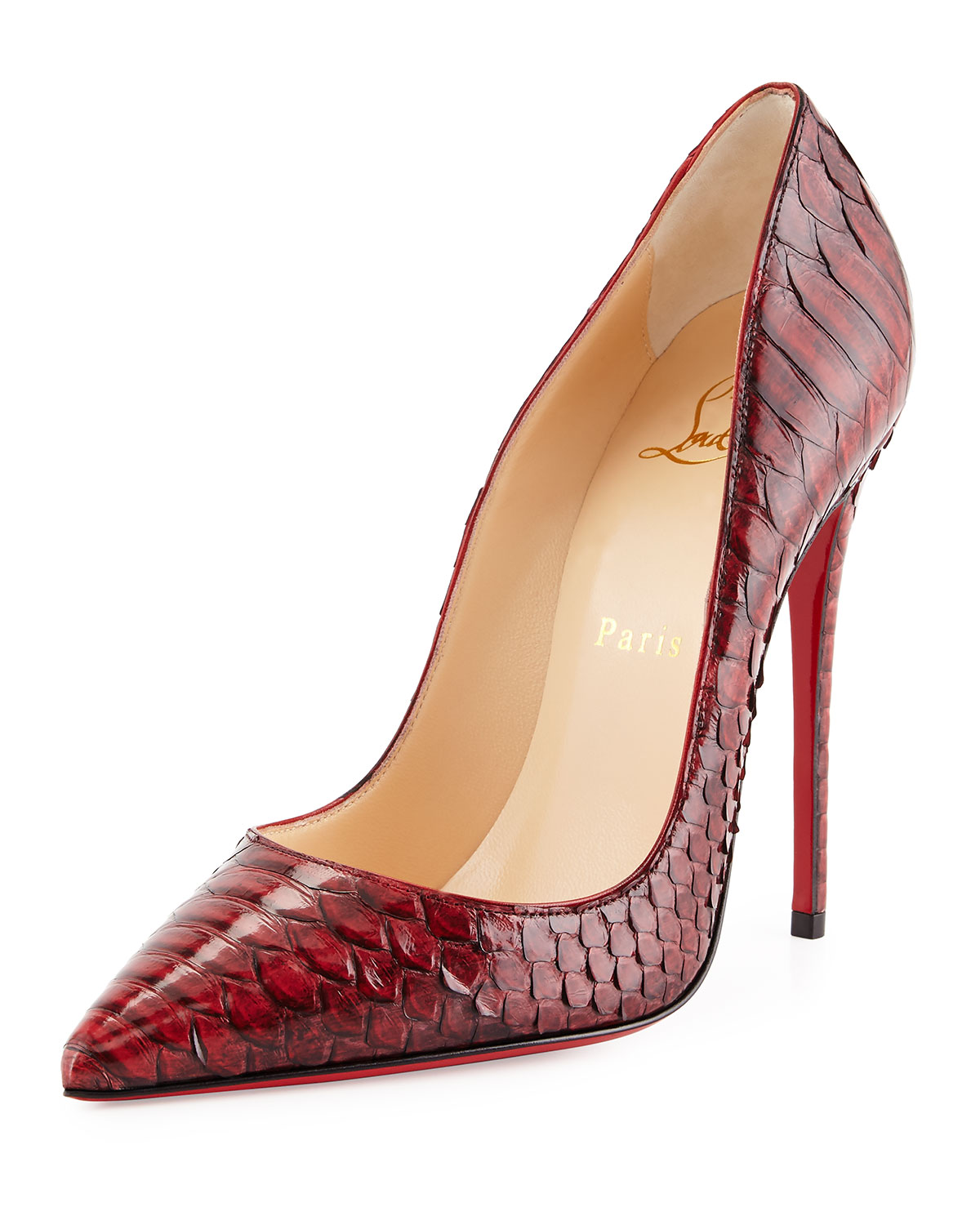 buy popular e928d 423f1 So Kate Python Red Sole Pump, Red