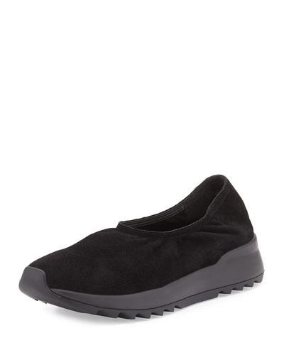 Hug2 Leather Slip-On Loafer, Black