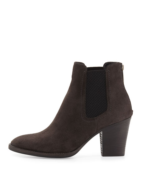 Fairly Stretch-Suede Bootie, Graphite