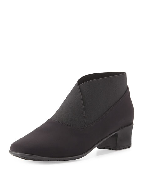 Sesto Meucci Yates Waterproof Stretch-Fabric Bootie, Black