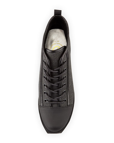 Grunge Lace-Up Sneaker, Black