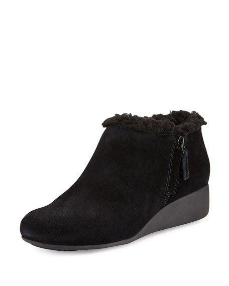 Cole Haan Callie Faux-Shearling-Lined Slip-On, Black