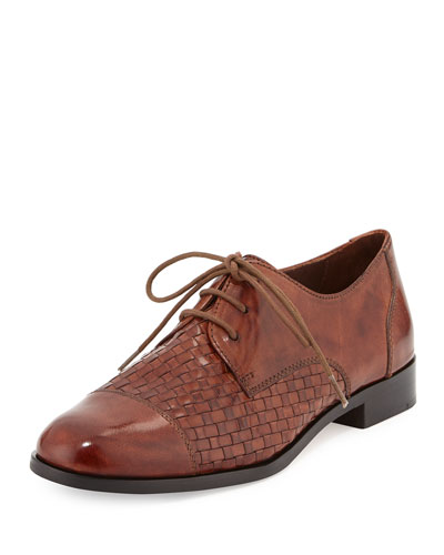 Jagger Woven Leather Oxford, Sequoia