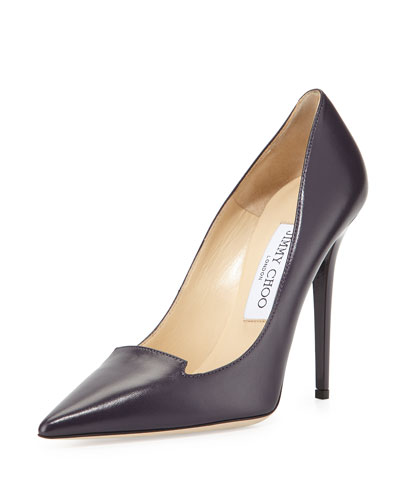 Ari Smooth Leather Pump, Blackberry