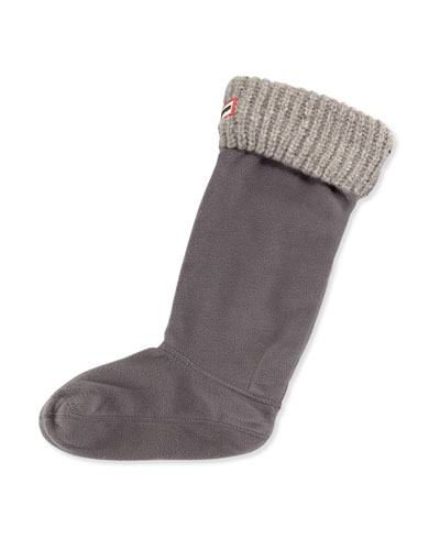 Granite Fleck Boot Sock, Slate