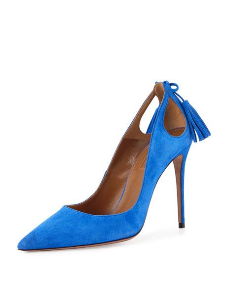 Aquazzura Forever Marilyn Cutout Pump, Mondrian Blue
