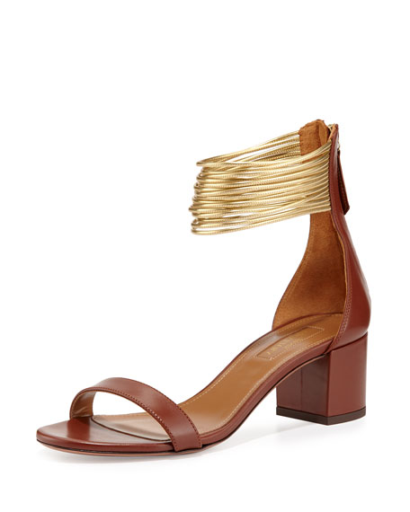 Aquazzura Spin Me Around Multi-Strap Sandal, Luggage