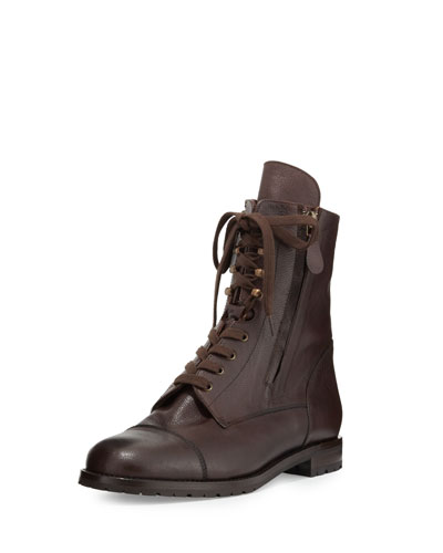 Campchalo Leather Lace-Up Boot, Brown