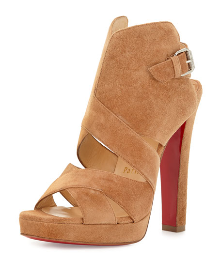 Christian Louboutin Apron Lili Suede Red Sole Sandal,