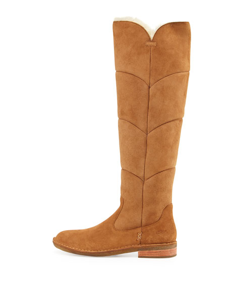 519a79cd6d8 Samantha Quilted Tall Boot Chestnut