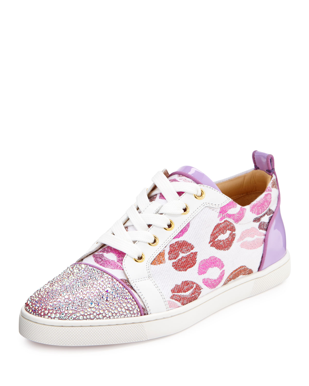 Christian Louboutin Gondolastrass Lip-Print Low-Top Sneaker ed0205608e