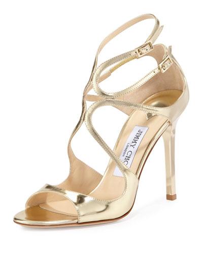 Lang Metallic Strappy Sandal, Gold
