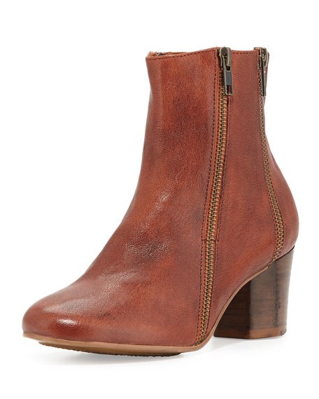 Gentle Souls Lexington Leather Ankle Boot, Cayenne
