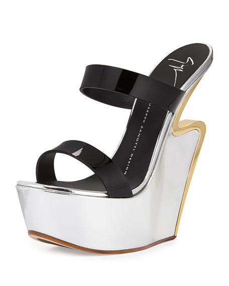 collections online Giuseppe Zanotti Metallic Flatform Sandals cheap footlocker DrUS7