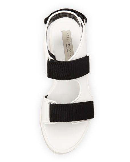 Two-Tone Platform Sandal, Black/White