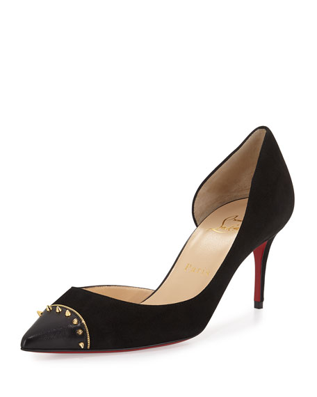 Christian Louboutin Culturella Half-d'Orsay 70mm Red Sole Pump,