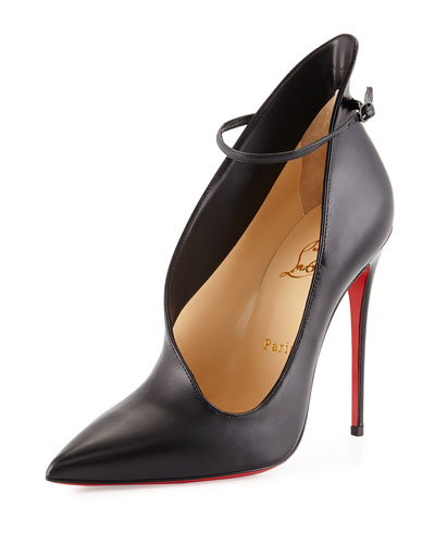 Vampydoly Asymmetric Red Sole Pump, Black