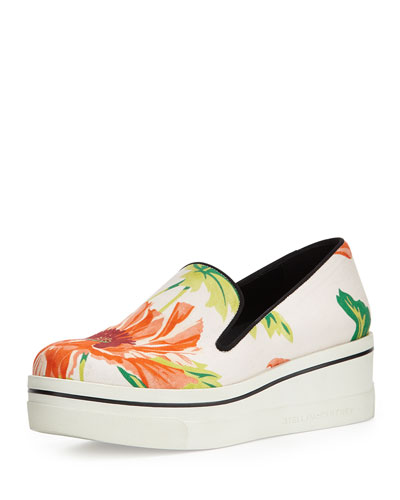 Binx Floral-Print Slip-On, Black/Rose/Grass