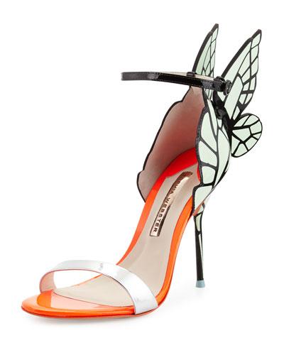 Chiara Butterfly Wing Sandal, Mint