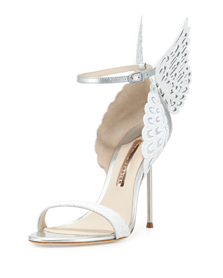 Sophia Webster Evangeline Angel Wing Sandal, Perola Snow