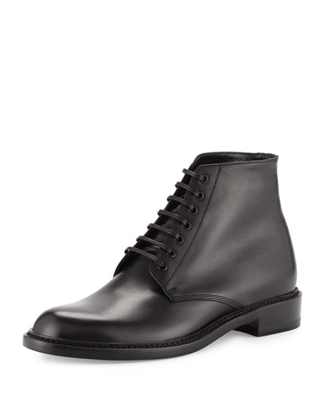 Saint Laurent Lolita Leather Ranger Boot, Black