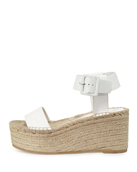 Image 3 of 5: Abby Leather Espadrille Sandal, Plaster