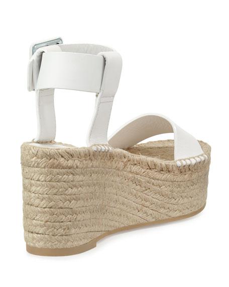Vince Abby Leather Espadrille Sandal, Plaster