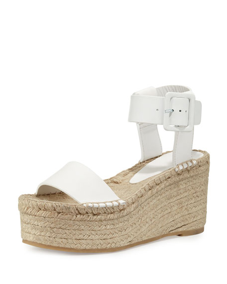 Image 1 of 5: Abby Leather Espadrille Sandal, Plaster