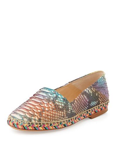 Python Espadrille Flat, Multicolor