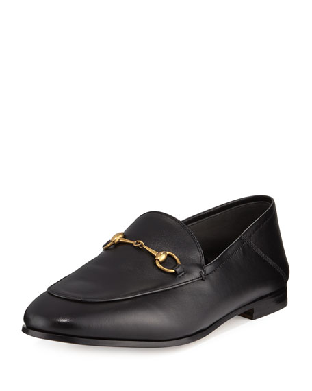 Gucci Brixton Leather Horsebit Loafer, Black