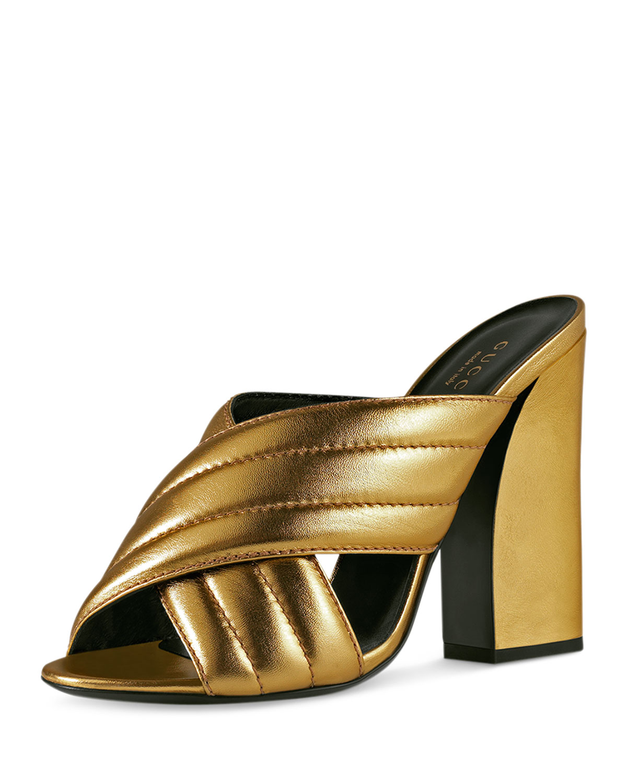 afc59ab7e80 Gucci Webby Metallic 110mm Sandal