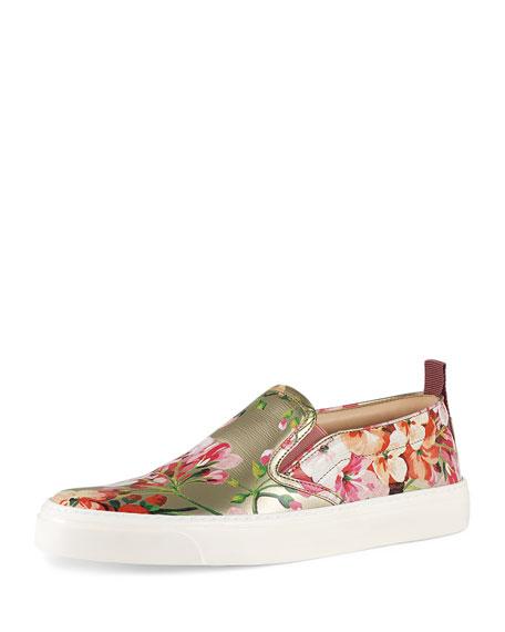 Gucci Board Floral-Print Skate Sneaker, Dry Rose
