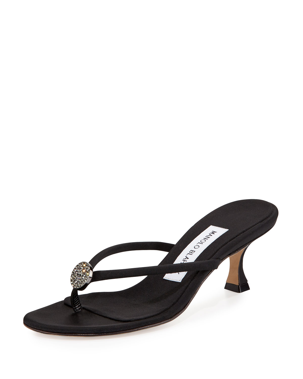 Manolo Blahnik Grosgrain Embellished Sandals discount newest buy cheap really cheap sale choice discount classic SG8cU