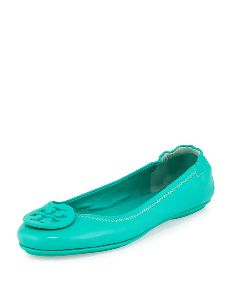 Tory Burch Minnie Travel Logo Ballerina Flat, Biscayne