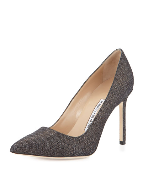metallic BB 50 pumps Manolo Blahnik