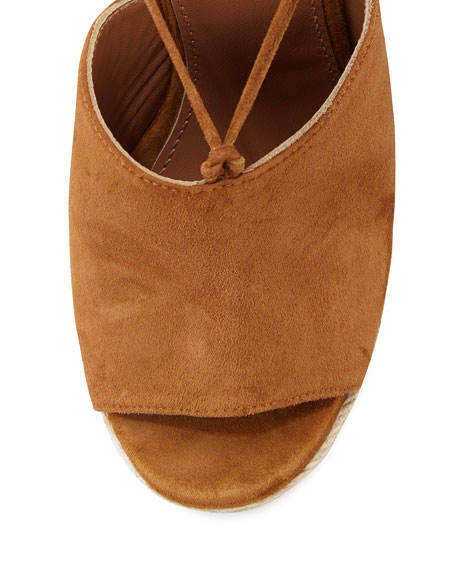 Palm Springs Wedge Espadrille Sandal, Cognac