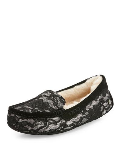 Ansley Antoinette Lace Slipper, Moonlight