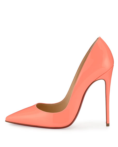 So Kate Patent 120mm Red Sole Pump, Flamingo