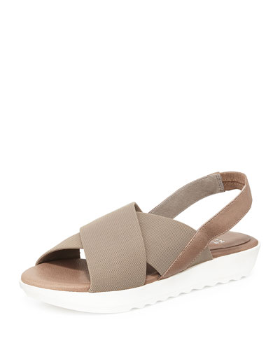 Trek Crisscross Wedge Sandal, Quartz
