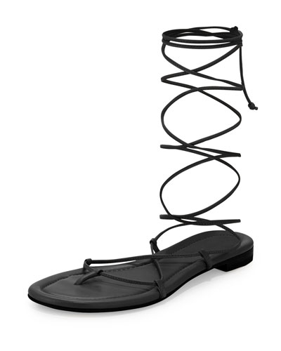 Bradshaw Lace-Up Gladiator Sandal, Black