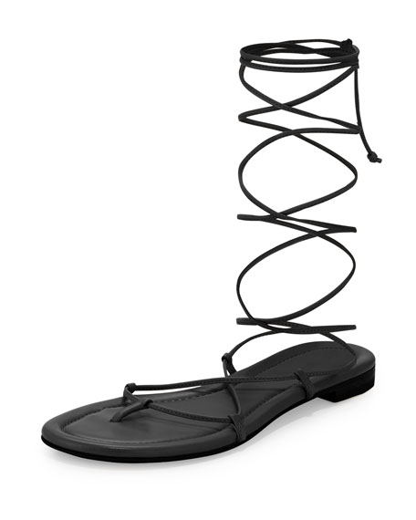 Michael Kors Collection Bradshaw Lace-Up Gladiator Sandal, Black