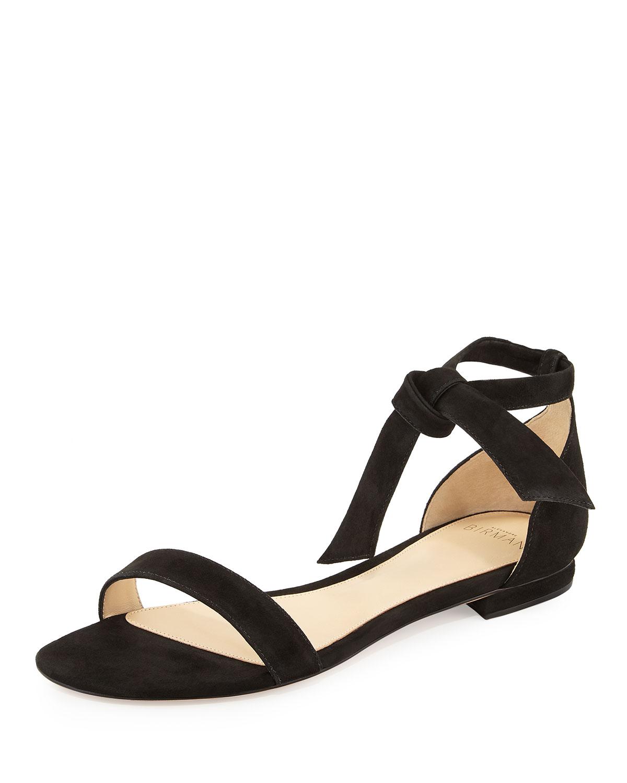 2ccdb4fd227 Alexandre Birman Clarita Suede Ankle-Tie Flat Sandal