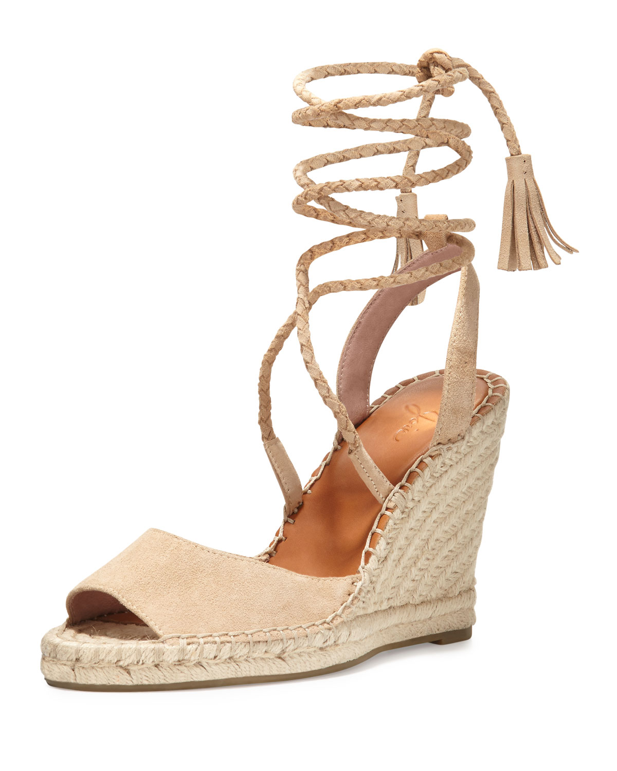 70e001226b9e8 Joie Phyllis Suede Lace-Up Wedge Espadrille Sandal