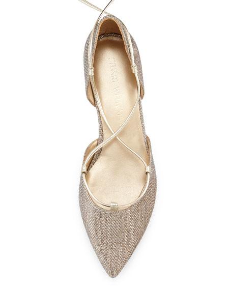 Gilligan Lace-Up d'Orsay Flat, Platinum